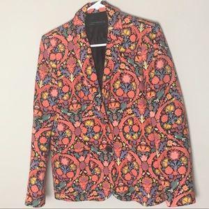 Zara Women Floral Oriental Blazer